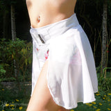 Poledance skirt short WHITE by Flexmonkey polewear - Flexmonkey Polewear