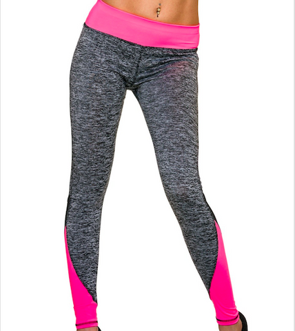 flour roze legging yoga pants fitness leggings sport lang full length