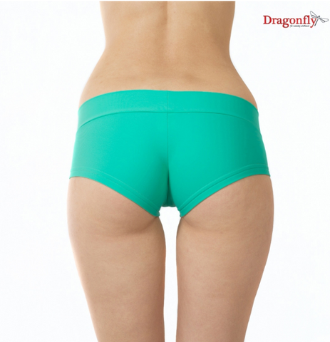 Dragonfly Hotpants yoga short hotyoga bikini lycra Mint