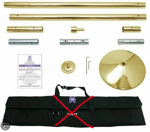 X-pole X-pert BRASS (NX, 40mm, 45mm-) - Flexmonkey Polewear