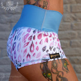 Flexmonkey paaldanskleding polewear hotpants Fantasy Jaguar competition short poleshort cute sexy yoga Nederland worldwide shipping animal print cute print brazilian bun crunch side