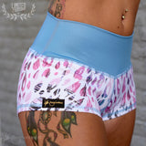 Flexmonkey paaldanskleding polewear hotpants Fantasy Jaguar competition short poleshort cute sexy yoga Nederland worldwide shipping animal print cute print brazilian crunch