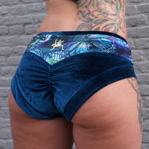 Flexmonkey Apple bum shorts 'Velvet Butterfly' - Flexmonkey Polewear