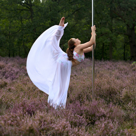 'Joyful Hummingbird' poledance skirt extra long by Flexmonkey polewear