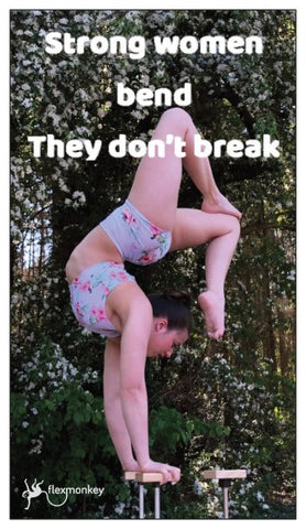 Poledance magnets BEND, DONT BREAK paaldans kado magneet kaartje ontworpen door Flexmonkey - Flexmonkey Polewear