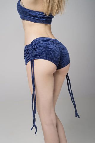 RAD polewear - Side string short Velvet - Flexmonkey Polewear