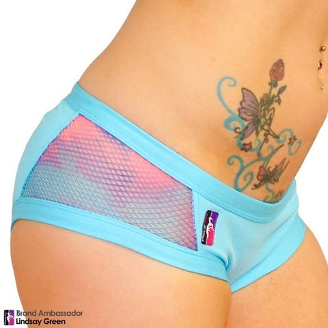 Side short fishnet van BadKitty - Flexmonkey Polewear