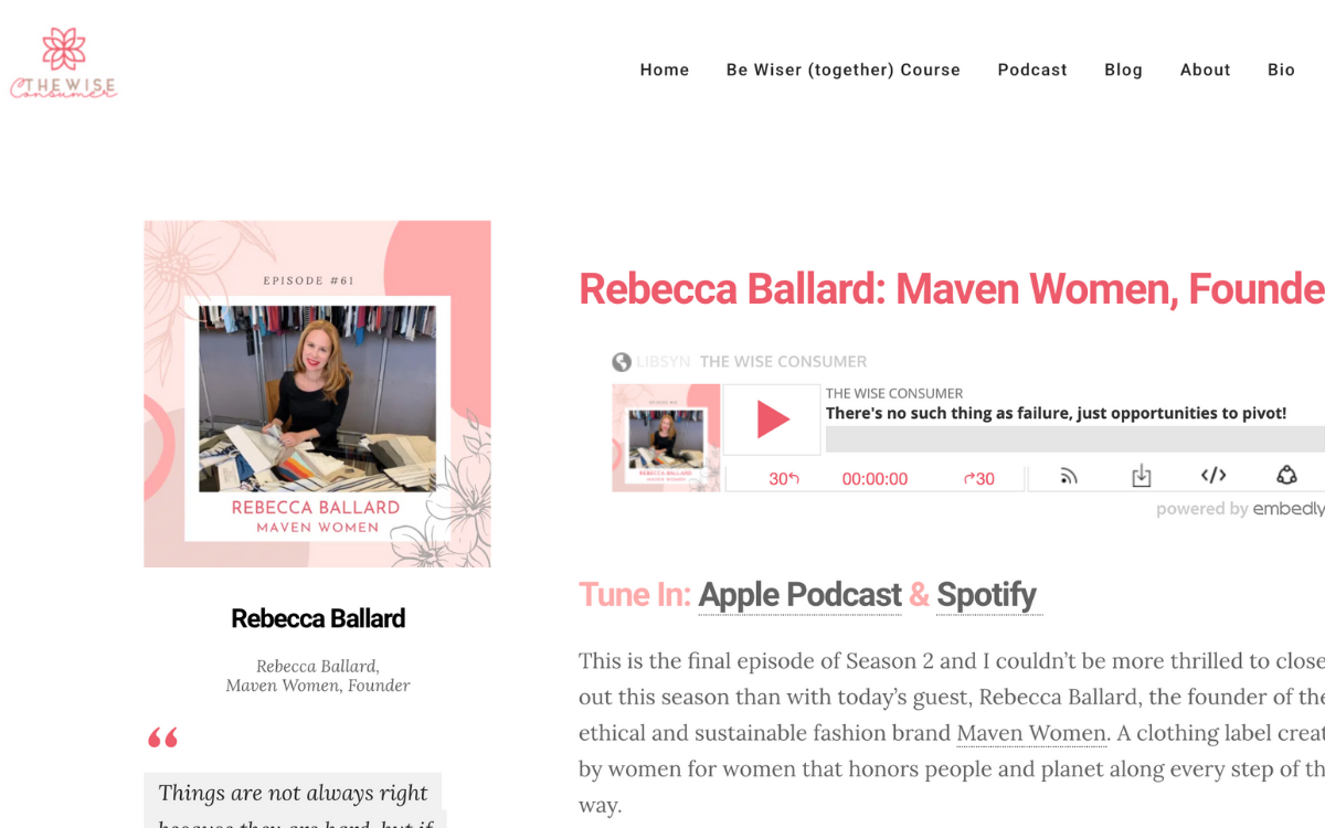 As Seen In The Wise Consumer: Interview With Maven Women Founder Rebecca Ballard