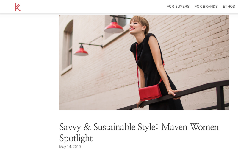 As seen in Kanekta: Savvy & Sustainable Style: Maven Women Spotlight