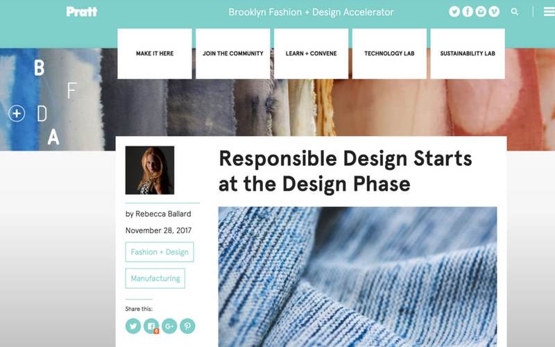 As seen in The Brooklyn Fashion + Design Accelerator: Responsible Design Starts at the Design Phase