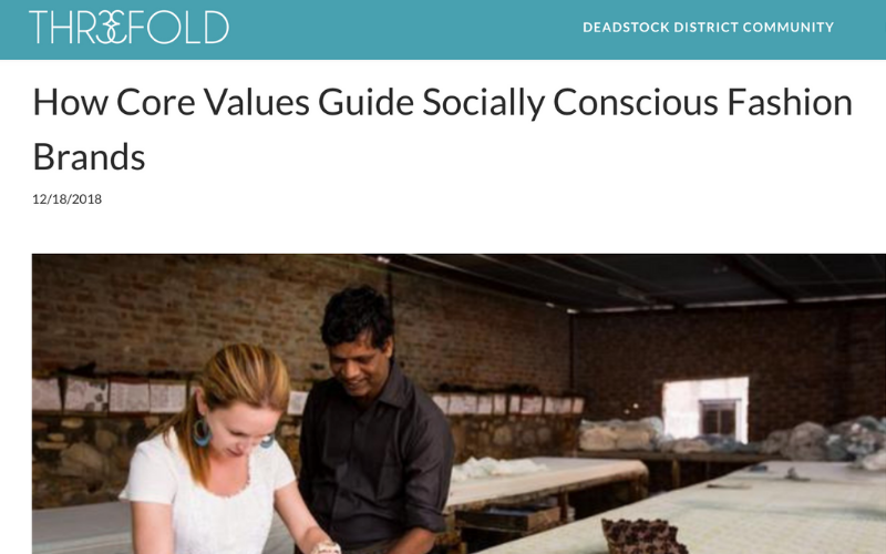 As Seen In Thre3fold: How Core Values Guide Socially Conscious Fashion Brands