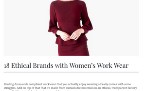 As Seen In Conscious Life & Style: 18 Ethical Brands with Women's Work Wear