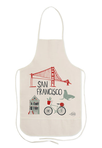 Canvas Apron with San Francisco Print