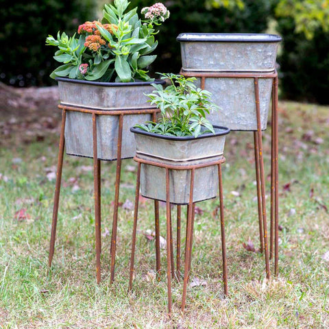 Galvanized Metal Plant Stands