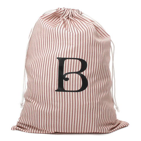 Monogrammed Preppy Striped Laundry Bag