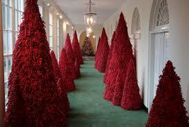 White House Red Christmas Trees - Adley & Company Inc.