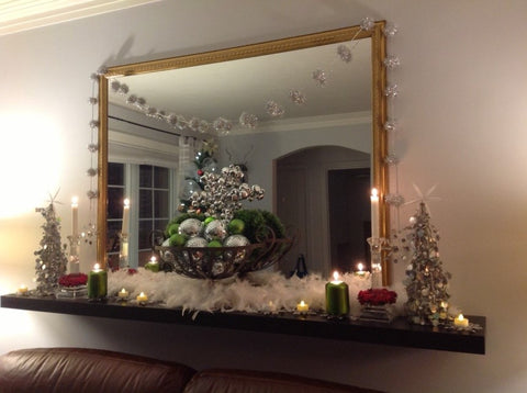 Christmas Mantel Decorating