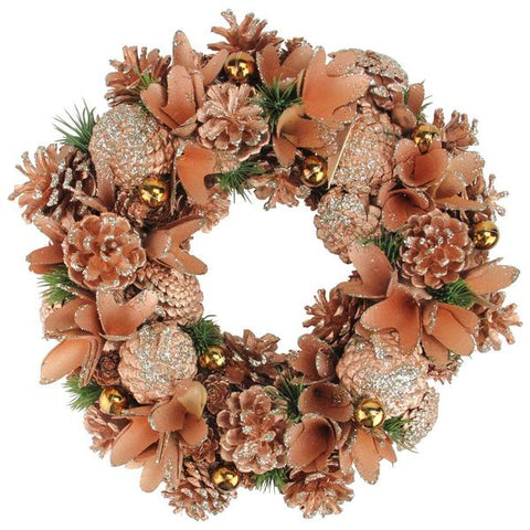 "14"" Orange Autumn Wreath"
