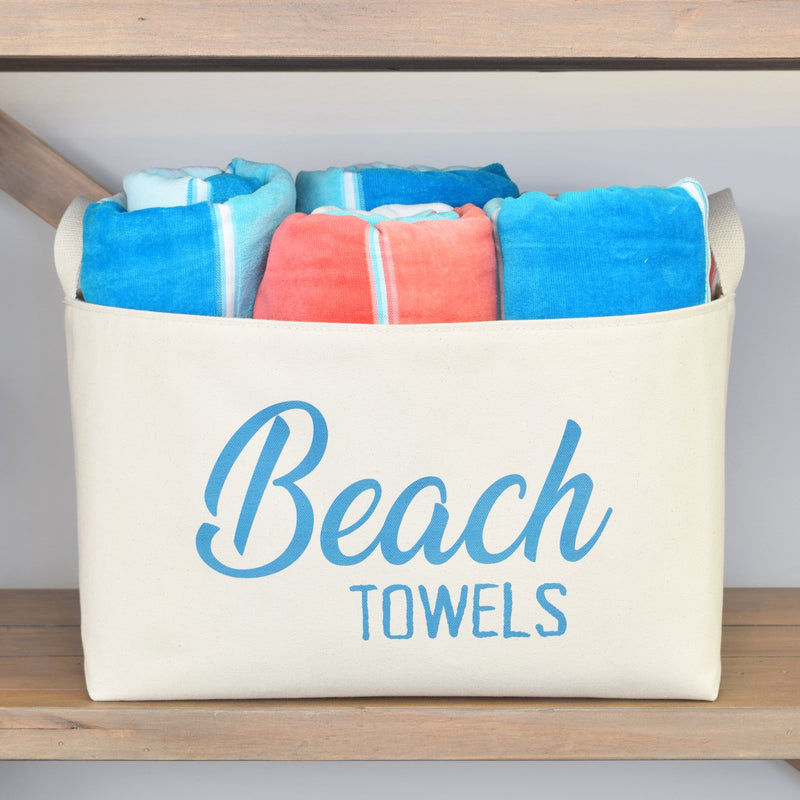Beach Towels Canvas Bin,canvas bin,Adley & Company Inc.