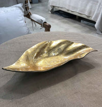 Decorative Gold and Black Leaf Tray Bowl