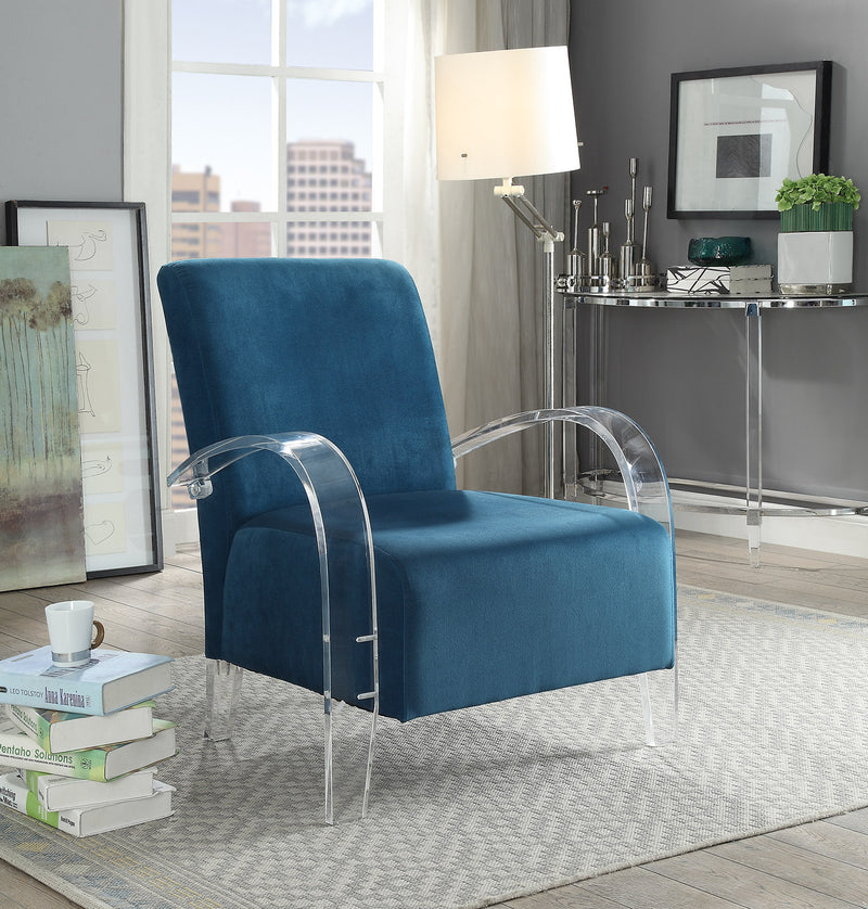 Charcoal Grey or Blue & Acrylic Accent Chair,accent chair,Adley & Company Inc.
