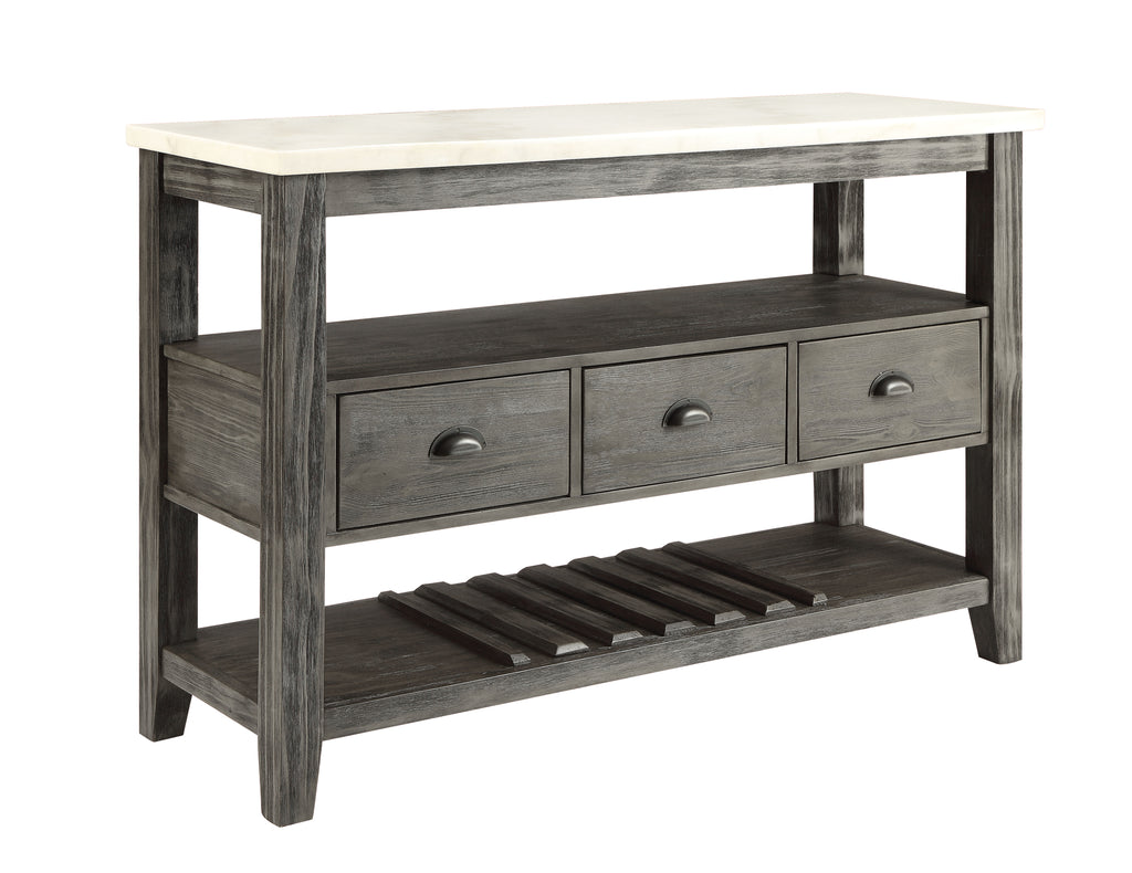 Marble Topped Console Server Table
