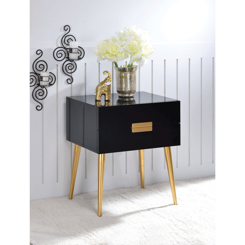 Mid Century Side Tables in High Gloss,night stand,Adley & Company Inc.
