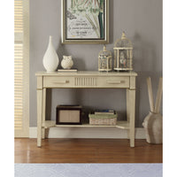 Antique White Console Table,console table,Adley & Company Inc.