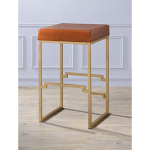 Modern Gold & Leather Bar Stools,bar stool,Adley & Company Inc.