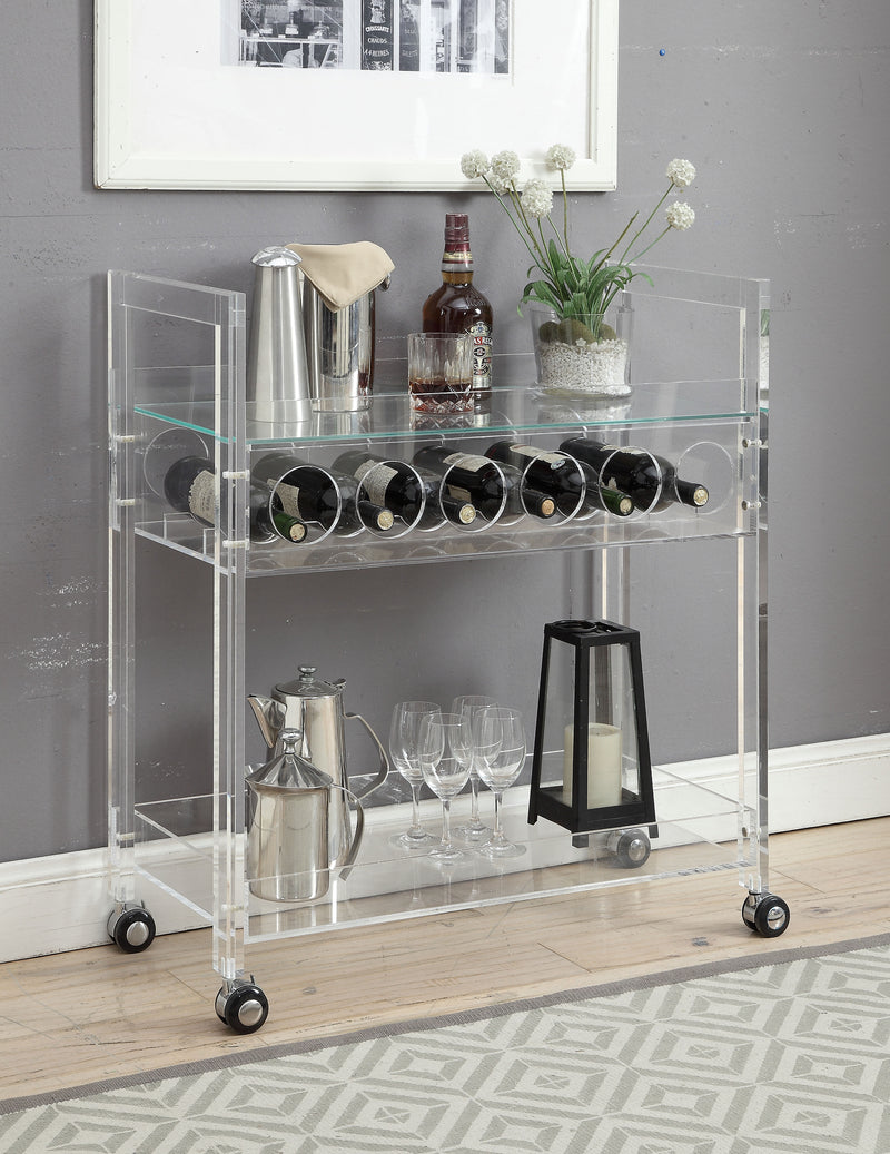 Glass & Acrylic Bar Cart