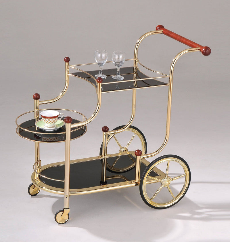 Black & Gold Glam Bar Cart,bar cart,Adley & Company Inc.