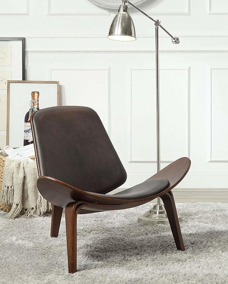 Modern Curved Wood Chair,chair,Adley & Company Inc.