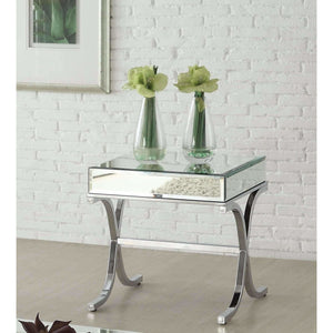 Mirrored Side Table,mirrored table,Adley & Company Inc.