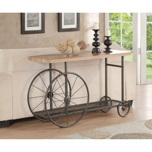 Industrial Wheel Console Table,console table,Adley & Company Inc.