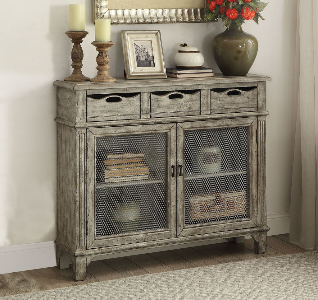 Three Drawer Rustic Console Cabinet