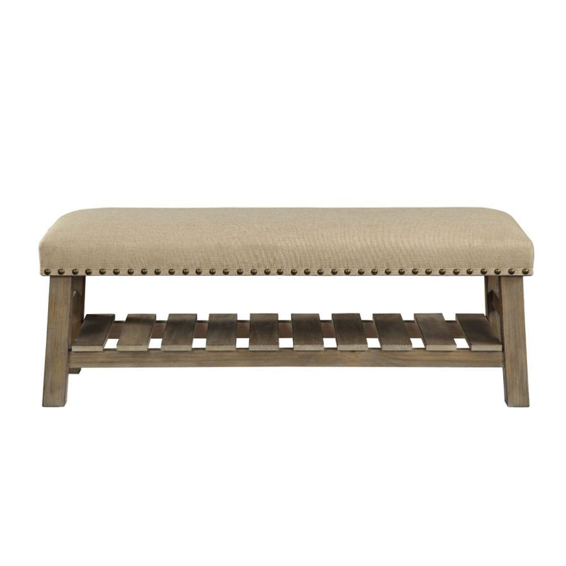 Nail Head Upholstered Accent Bench