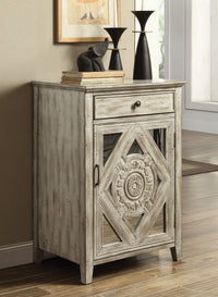 Antiqued Grey or White Mirrored Accent Cabinet,accent cabinet,Adley & Company Inc.