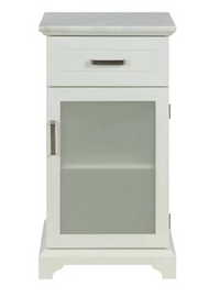 White Apothecary Storage Cabinet with Marble Top,cabinet,Adley & Company Inc.