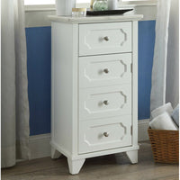 White Marble Top Accent Storage Cabinet,cabinet,Adley & Company Inc.