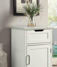 Marble Topped White Accent Cabinet,accent cabinet,Adley & Company Inc.
