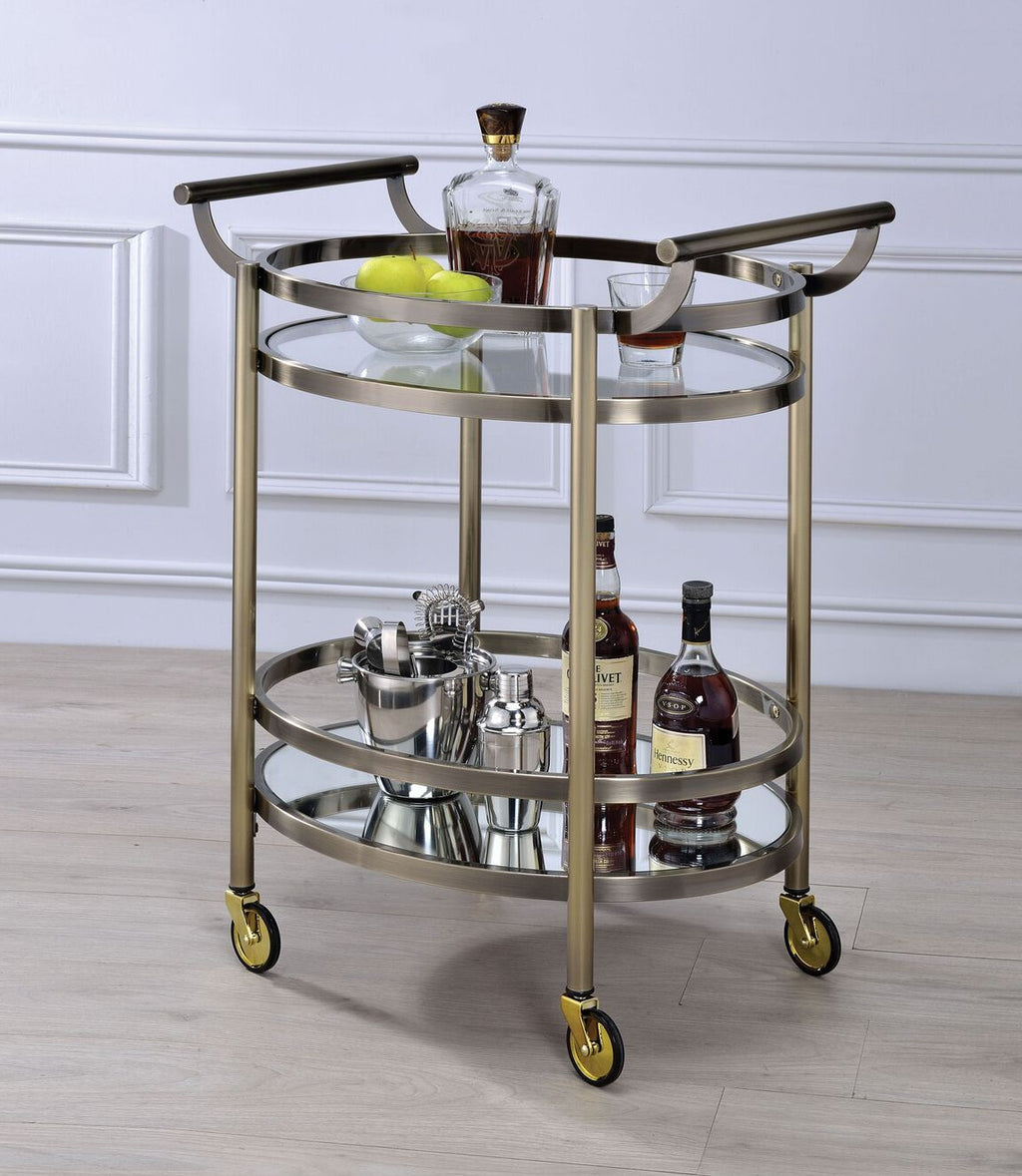 Oval Bar Cart,bar cart,Adley & Company Inc.