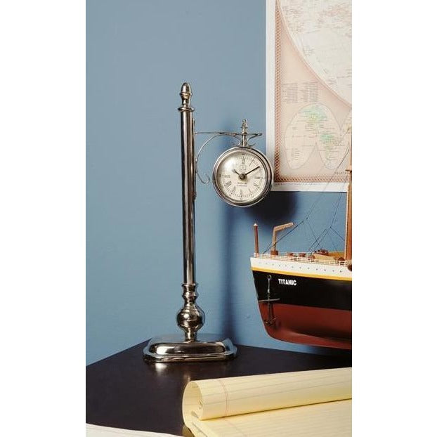 Lamp Post Table Clock,clock,Adley & Company Inc.