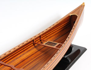 Cedar Wood Canoe Model,model canoe,Adley & Company Inc.