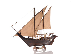 Dhow Model Boat with Sails