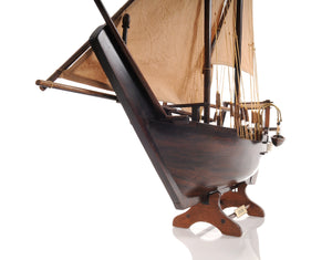 Dhow Model Boat with Sails,model plane,Adley & Company Inc.