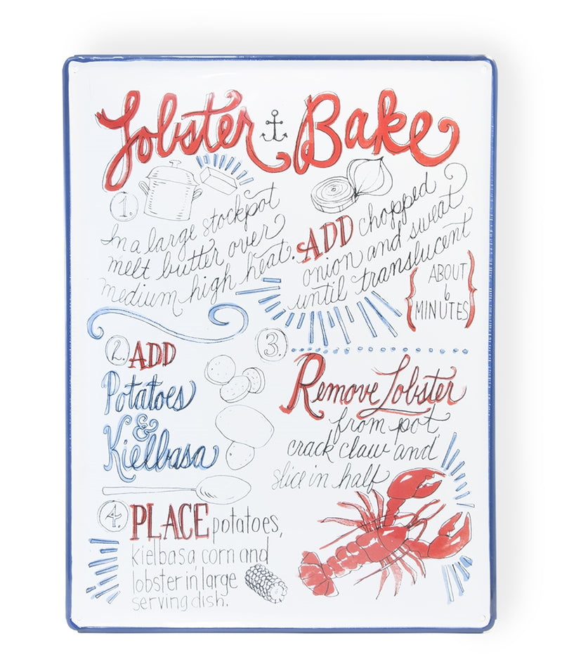 Metal Enameled Lobster Bake Sign