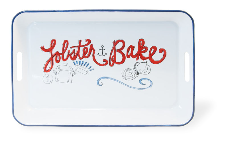 Lobster Bake Metal Serving Tray,tray,Adley & Company Inc.