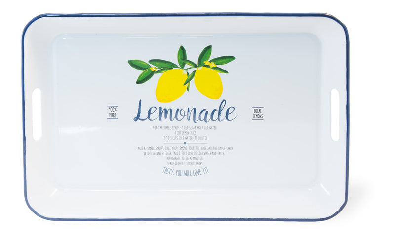 Summer Time Lemonade Metal Tray,tray,Adley & Company Inc.