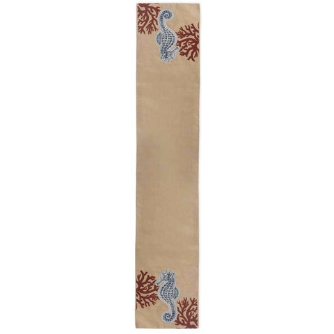 Coastal Sea Horse Table Runner