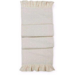 Ruffled Off White Table Runner,table runner,Adley & Company
